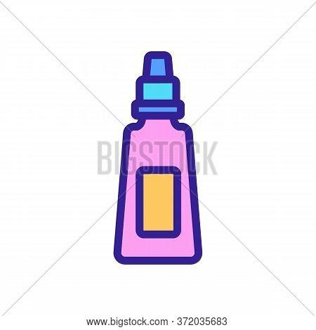 Anti Cellulite Cream Tube Icon Vector. Anti Cellulite Cream Tube Sign. Color Symbol Illustration
