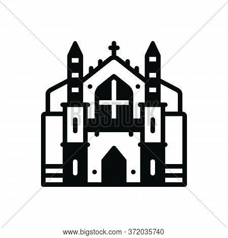 Black Solid Icon For Cambridge College University  Building Academy Campus