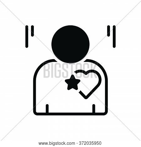 Black Solid Icon For Candor Candour Sincerity Honesty Candidness