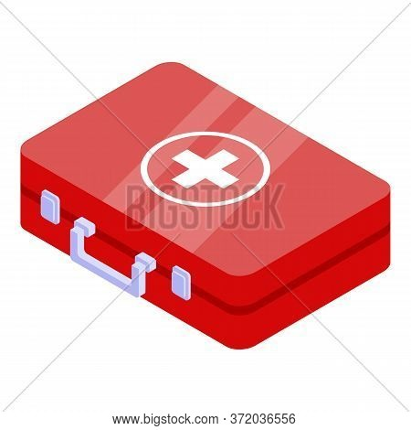 First Aid Kit Icon. Isometric Of First Aid Kit Vector Icon For Web Design Isolated On White Backgrou