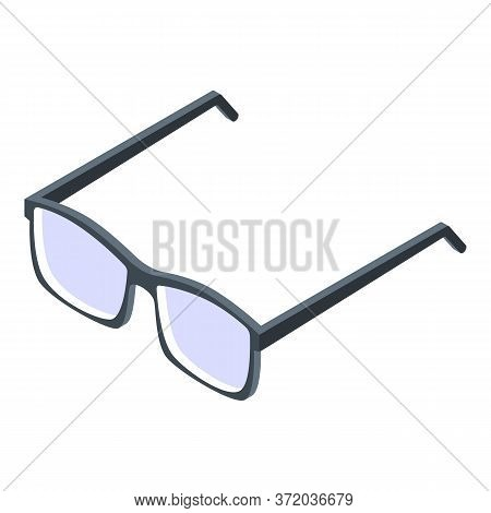 Student Eyeglasses Icon. Isometric Of Student Eyeglasses Vector Icon For Web Design Isolated On Whit