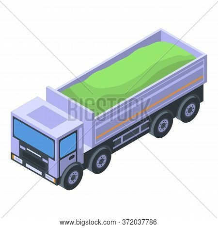 Lorry Tipper Icon. Isometric Of Lorry Tipper Vector Icon For Web Design Isolated On White Background