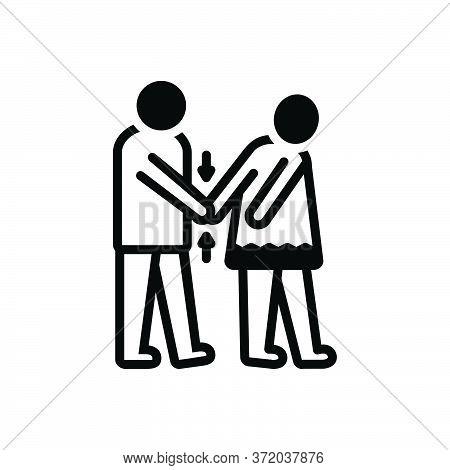 Black Solid Icon For Coercion Rape Coercion Forcing Violation Ragging