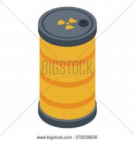 Biohazard Barrel Icon. Isometric Of Biohazard Barrel Vector Icon For Web Design Isolated On White Ba