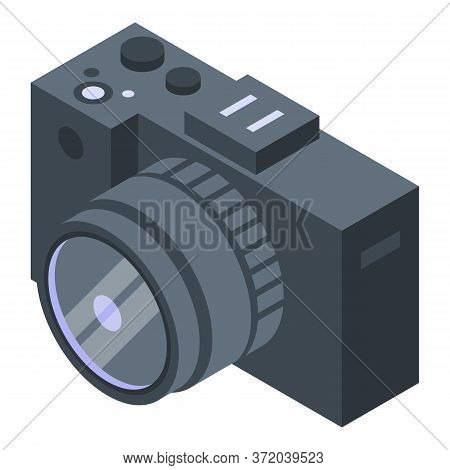 Investigator Camera Icon. Isometric Of Investigator Camera Vector Icon For Web Design Isolated On Wh