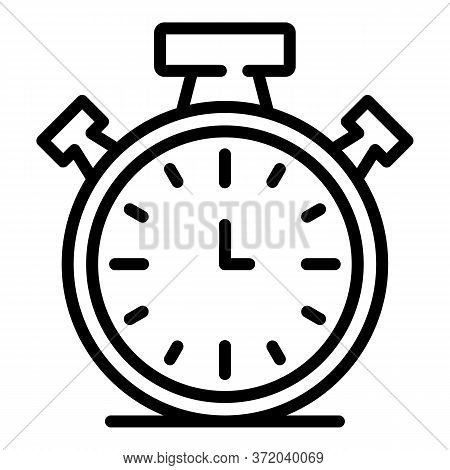Stopwatch Icon. Outline Stopwatch Vector Icon For Web Design Isolated On White Background