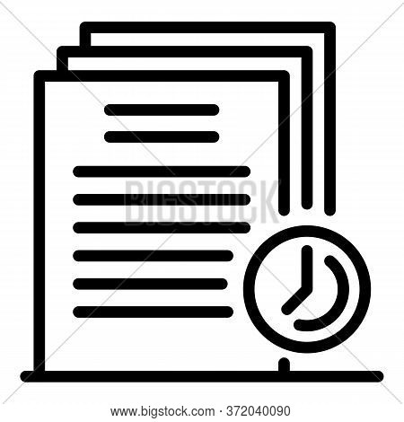 Temporary Files Icon. Outline Temporary Files Vector Icon For Web Design Isolated On White Backgroun