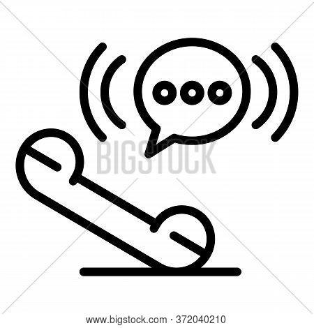 Telephone Handset Icon. Outline Telephone Handset Vector Icon For Web Design Isolated On White Backg