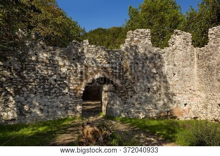 Butrint/ Albania October 12, 2019. The Ruin Dated From The 6th Century At Butrint, Albania. Entrance