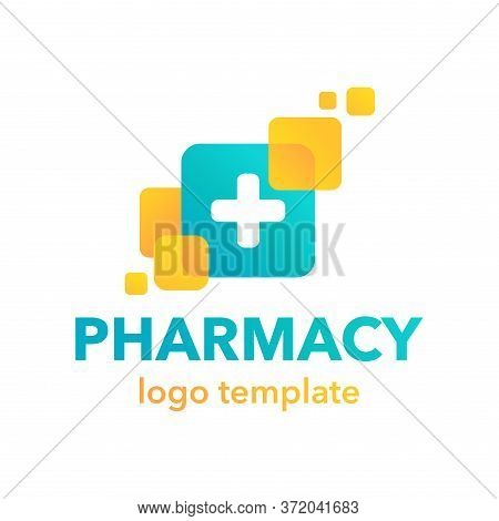 Pharmacy Logo - Modern Creative Emblem For Drugstore Shop, Apothecary Or Other Medical Purpose - Iso