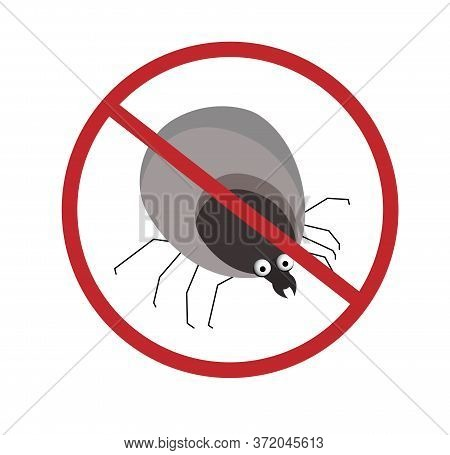 Mite. Tick A Blood-sucking Insect. The Parasite Is A Tick. Summer Epidemic. Lyme Disease.