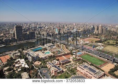 Cairo / Egypt - 05 Mar 2017. Center Of Cairo On Nile River, Egypt