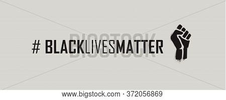 Black Lives Matter Hashtag. Vector Illustration Eps10