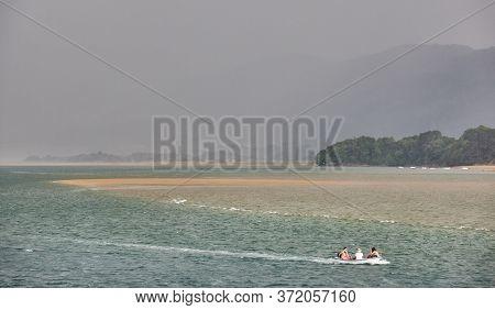 Basque Country Landscape In Urdaibai Biosphere Reserve Estuary. Euskadi, Spain