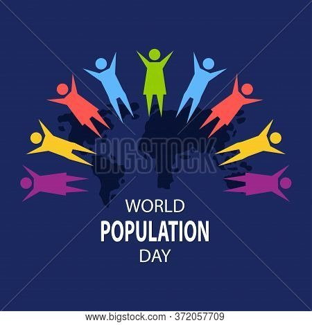 World Population Day Poster Concept. July 11. Template For Background, Banner, Card, Poster With Tex