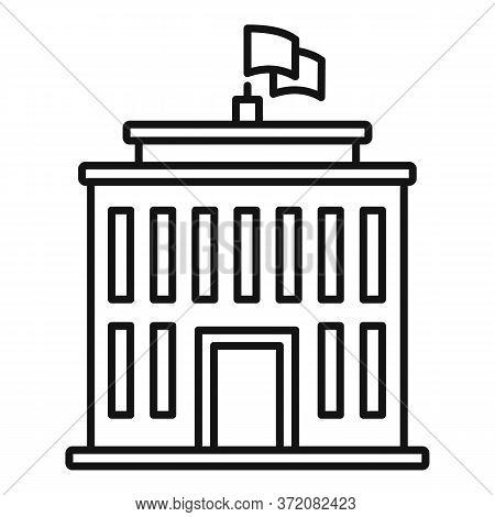Education University Icon. Outline Education University Vector Icon For Web Design Isolated On White