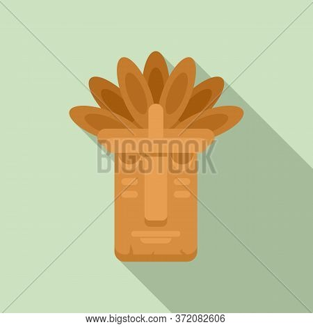 Mexican Tiki Idol Icon. Flat Illustration Of Mexican Tiki Idol Vector Icon For Web Design