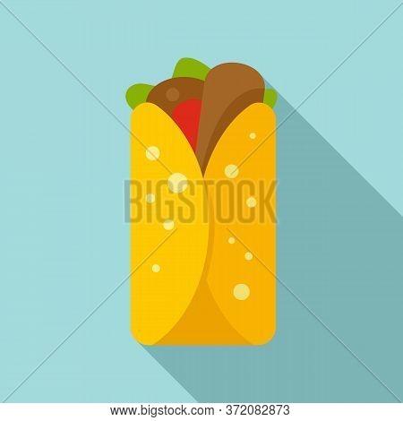 Mexican Burritos Icon. Flat Illustration Of Mexican Burritos Vector Icon For Web Design