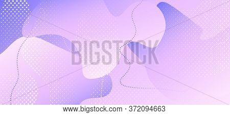 Pastel Purple Background. Pink Geometric Design. Flow Booklet. Contemporary Decoration. Violet Minim