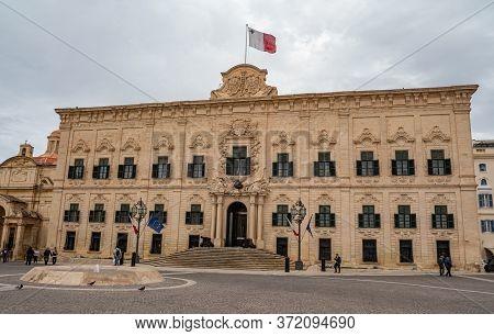 Famous Castille Building - Home Of The Prime Minister Of Malta - Island Of Malta, Malta - March 5, 2