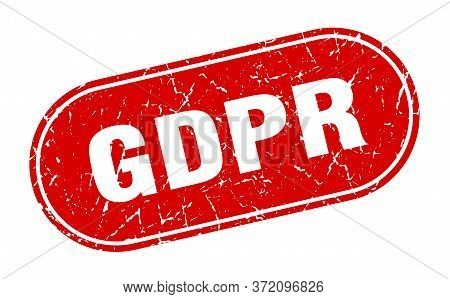 Gdpr Sign. Gdpr Grunge Red Stamp. Label