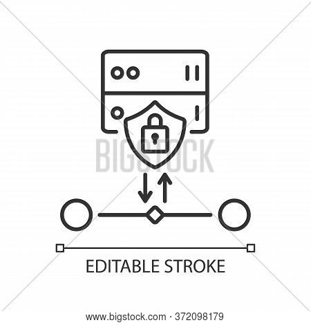 Ssl Encryption Linear Icon. Website Safety, Cybersecurity Thin Line Customizable Illustration. Conto