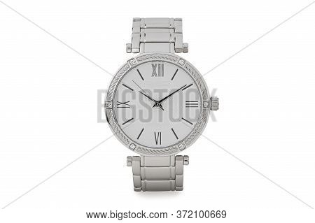 Luxury Watch Isolated On White Background. With Clipping Path For Artwork Or Design. Hand Watch. Pro