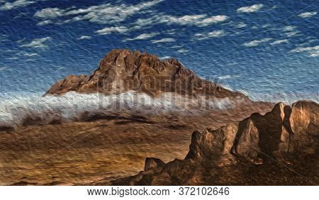 Secondary Volcanic Cone At Mount Kilimanjaro On A Rocky And Arid Landscape. This Tanzanian Dormant V