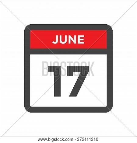 June 17 Calendar Icon - Day Of Month