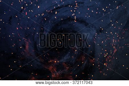 Starfield Stardust And Nebula Space Art Galaxy Creative Background. Elements Of This Image Furnished