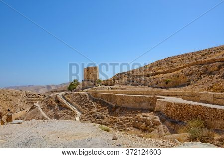 Judean Desert Holy Lavra Monastery Of Saint Sava The Sanctified Mar Saba Israel, Palestine.
