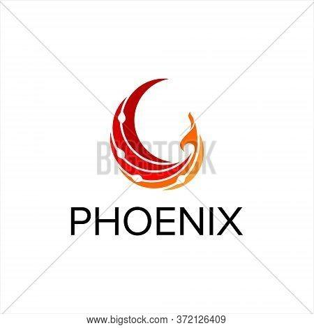 Phoenix Logo Simple Modern Flying Bird Vibrant Orange Color Of Vector For Design Template Or Industr
