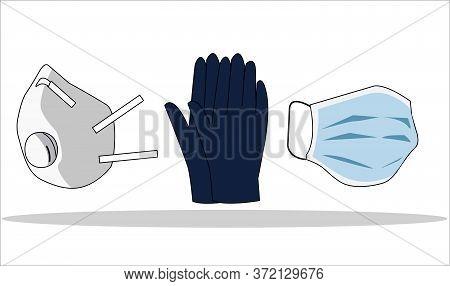 Safety Breathing Masks. Industrial Safety N95 Mask, Breathing Medical Respiratory Mask. Hospital Or