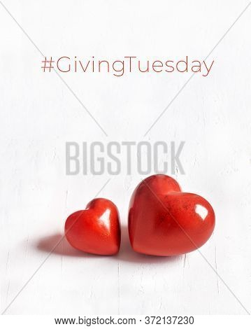 Giving Tuesday, Global Day Of Charitable Giving. Black Friday Of Charity, Global Charity Campain. Tw