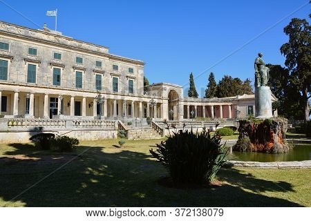 Museum Of Asian Art In Kerkyra, Corfu Island, Greece Housed In The Palace Of St. Michael And St. Geo