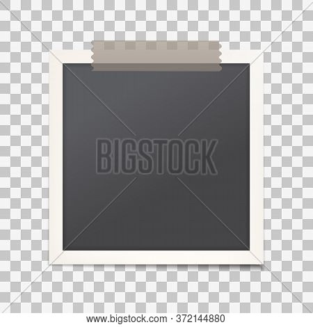 Realistic Photo Frame With Shadow On Transparent Isolated Background, Empty Photography Snapshot Tem