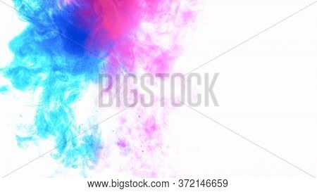 Abstract background of colored liquid, close-up.