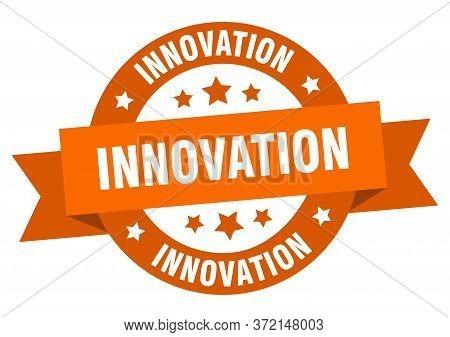 Innovation Ribbon. Innovation Round Orange Sign. Innovation