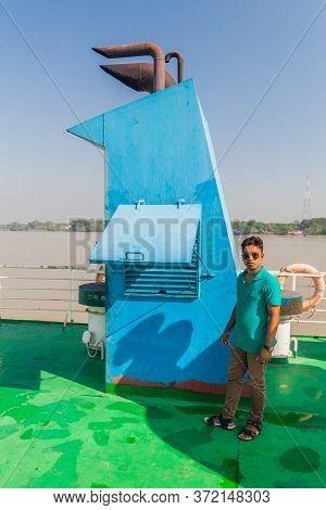 Morrelganj, Bangladesh - November 19, 2016: Passenger Of Mv Modhumoti Ship, Bangladesh