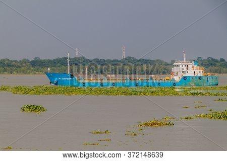Katcha, Bangladesh - November 19, 2016: Mt Confident Tanker On Katcha Kacha River, Bangladesh