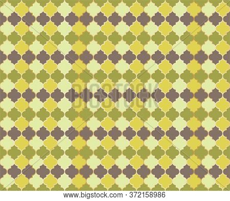 Arabian Mosque Window Vector Seamless Pattern. Ramadan Mubarak Muslim Background. Traditional Ramada