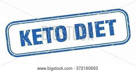 Keto Diet Stamp. Keto Diet Square Grunge Blue Sign. Keto Diet Tag