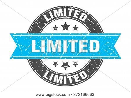 Limited Round Stamp With Turquoise Ribbon. Limited