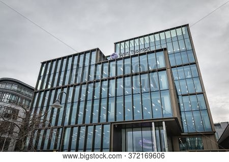 Dublin, Ireland - February 12, 2019: Architecture Detail Of The Grant Thornton International Tower,