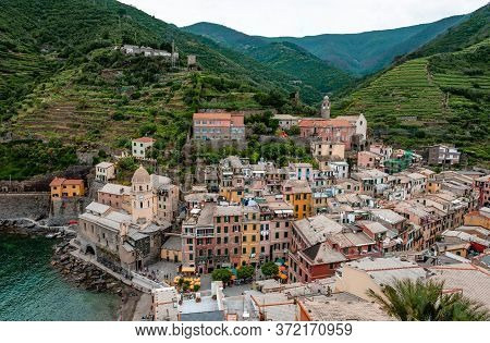 Vernazza Is One Of The Five Towns That Make Up The Cinque Terre Region, In Liguria, Italy. It Has No