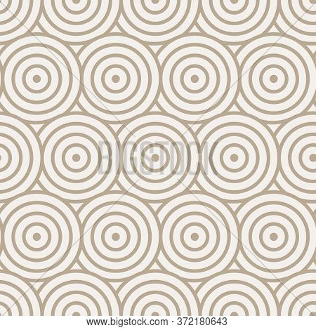 Continuous White Vector Optical Tile Texture. Repetitive Decorative Graphic Curved Textile Pattern.