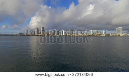 Wide Angle View Over The Skyline Of San Diego - San Diego, Usa - March 18, 2019
