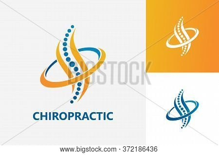 Chiropractic Medical Logo Template Design Vector, Emblem, Design Concept, Creative Symbol, Icon