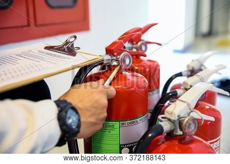 Engineer Now Inspection Services Red Fire Extinguishers Tank Concepts Of Fire Station For Emergency