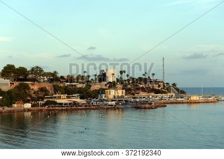 Orihuela, Costa Blanca, Spain - September 19, 2018:view Of Cabo Roig In Orihuela Costa. Spain